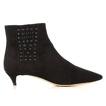 Tod's Xxw17b0z770hr0b999 Women's Black Suede Ankle Boots