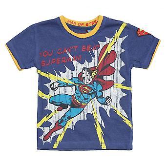 Fabric Flavours Kids Superman Raw T-Shirt