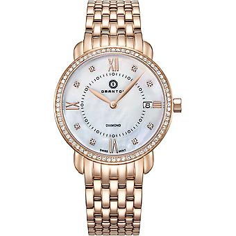 GRANTON - MARQUISE - Women's Watch - White. Rose Gold