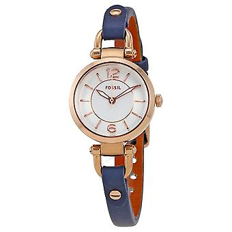 Fossil Georgia Mini Indigo Leather Ladies Watch ES4026