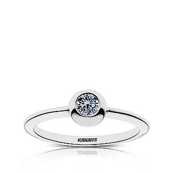 University of Central Florida Sapphire Ring In Sterling Silver Design by BIXLER