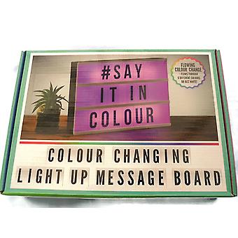 Colour Changing Light Up Message Board
