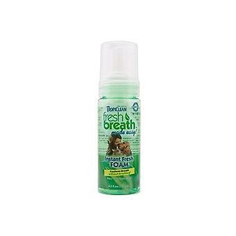 Tropiclean świeżego oddechu wykonane łatwy Mint pianki dla psów 133ml