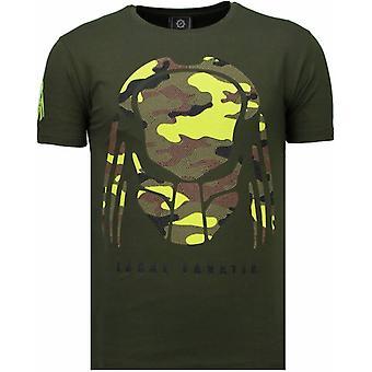 Predator-rhinestone T-shirt-grön