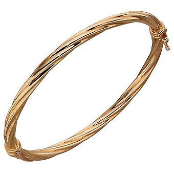 Elements Gold Twist Bangle - Gold