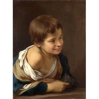 A Peasant Boy Leaning on a, Bartolome Esteban Murillo, 52x 38.5 cm