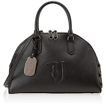 Trussardi Jeans 75B00453-9Y099999 Black Women's Handbag (Black On Tone) 35x30x15 cm (W x H x L)