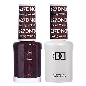 DND Duo Gel & Nail Polish Set - Loving Walnut 627 - 2x15ml