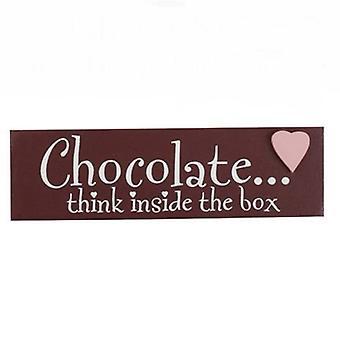 Think Inside the Box Chocolate Word Block