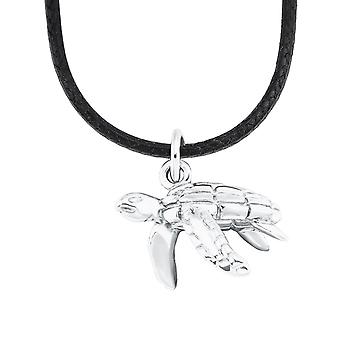 s.Oliver Jewel Kids and Teens Necklace Silver Nylon Turtle 2026056