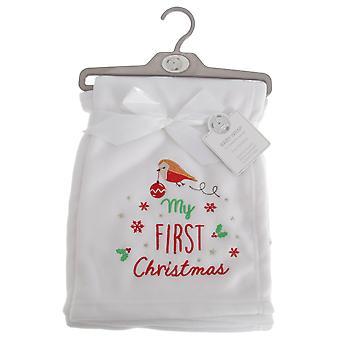寄り添う赤ちゃん赤ちゃん男の子/女の子私の最初クリスマス ラップ