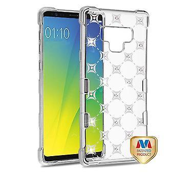 MYBAT sølv plating & Cosmo gnister med diamant TUFF Klarity Candy hud Cover til Galaxy Note 9