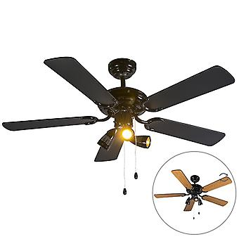 QAZQA Ceiling fan black - Mistral 42