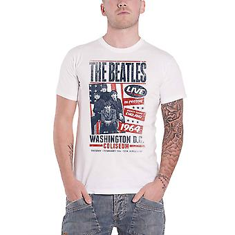 חולצת הביטלס T הקולוסיאום וושינגטון פוסטר DC בציר הרשמי Mens לבן