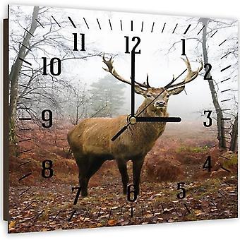 Reloj decorativo con imagen, 5 ciervos