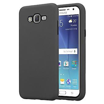 Caja Cadorabo para la cubierta de la caja del Samsung Galaxy J7 2015 - Funda de teléfono híbrida con silicona TPU en el interior y exterior de plástico de 2 piezas – Funda protectora Hybrid Hardcase Back Case