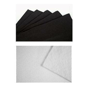Felt Coupon 30X25Cm Black Or White White Scrapbooking Fabric