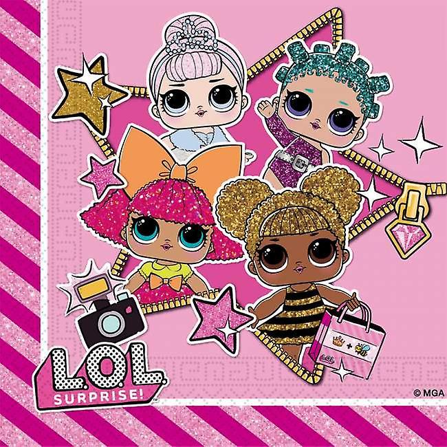 Surpresa LOL | Guardanapos Glitterati 20-Pack