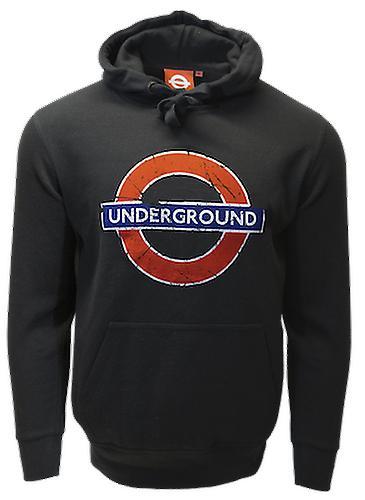 Licensed unisex underground™ roundel distressed printed hooded sweatshirt