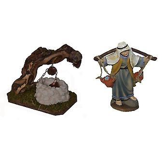 Wieg accessoires Nativity Scene Nativity Scene set BRUNNEN Nativity accessoires met water vervoerder