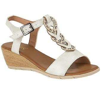 Lotus Orta Wedge Fersen-Sandalen