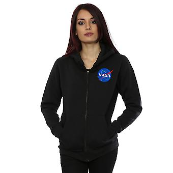 NASA Women's Classic Insignia Breast Print Zip Up Hoodie