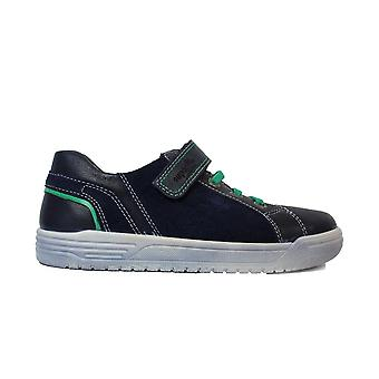 Superfit 00060-81 Navy Leather Boys Bungee Lace/Rip Tape Shoes