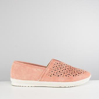Earth Spirit Worcester Ladies Slip On Shoes Coral