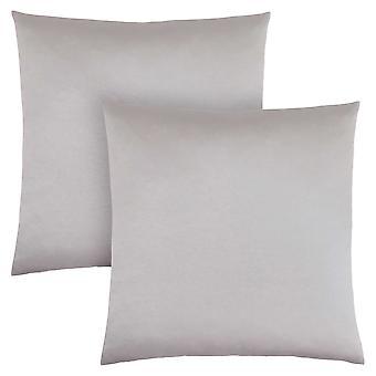 """18"""" x 18"""" Silver, Satin - Pillow 2pcs"""
