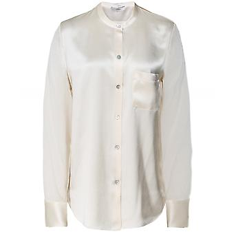 Vince Silk slim band kraag blouse