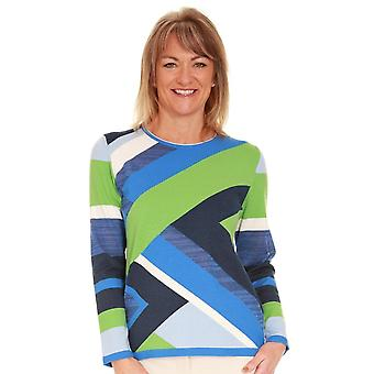 RABE Rabe Blue And Green Sweater 44 012655