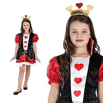 Queen of hearts fairytale playing card heart short kids costume