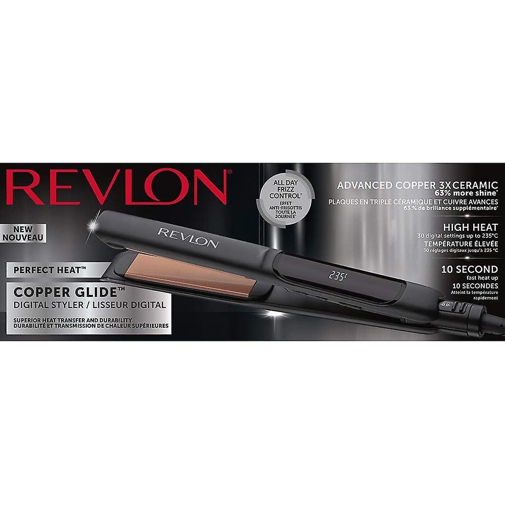 Revlon Pro Collection Salon Straight Copper Hair Straightener, 125 mm, Extra Long