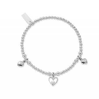 ChloBo SBSB7321101 женщины-апос;s Тройной браслет сердца