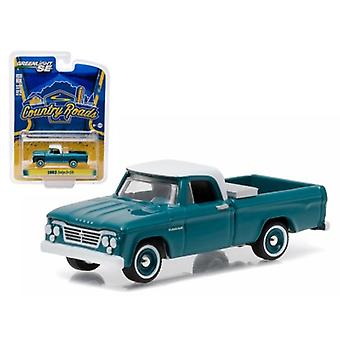 1963 Dodge D-100 with Toolbox Pickup Truck \Country Roads\ Series 14 1/64 Diecast Model by Greenlight