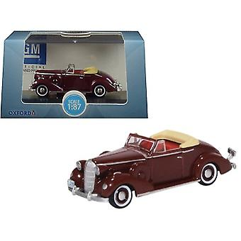 1936 Buick Special Convertible Coupe Cardinal Maroon 1/87 (HO) Scale Diecast Modellauto von Oxford Diecast