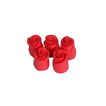 SugarSoft essbare Blume - Rosen Erdbeere rot 13mm - Box von 38