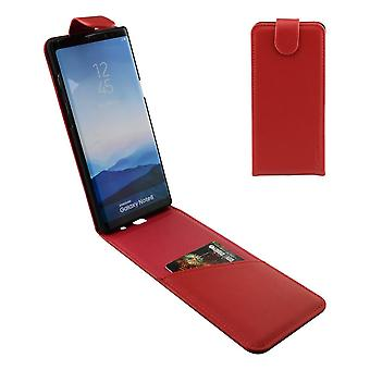 For Samsung Galaxy Note 8 Case,iCL Vertical Flip Genuine Leather Cover,Red