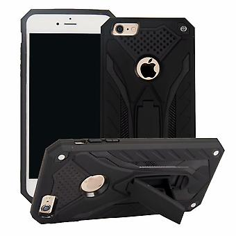 For iPhone 6 & 6S Case, Armour Strong Shockproof Tough Cover Kickstand, Black