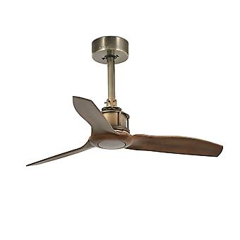 """Ventilateur de plafond DC Just Fan XS Brass / Walnut 81cm / 32"""""""