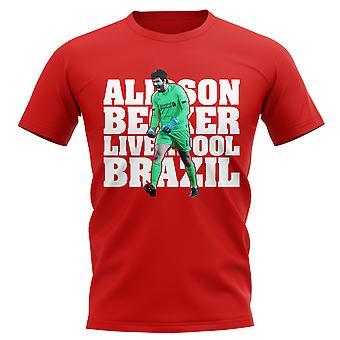 Alisson Becker Liverpool Giocatore T-Shirt (rosso)