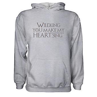 Miesten huppari huppari- Wildling You Make My Heart Sing