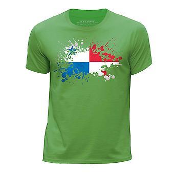 STUFF4 Pojan Pyöreä kaula T-paita/Panaman lipun Splat/vihreä