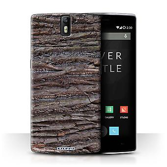 STUFF4 Case/Cover for OnePlus One/Textured/Brown/Tree Bark