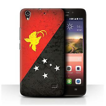 STUFF4 Fall/Abdeckung für Huawei Ascend G620S/Papua Neuguinea/Ozeanien Flagge