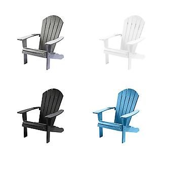 Weatherproof Wooden Style Adirondack Armchair  - Outdoor Patio Garden Furniture