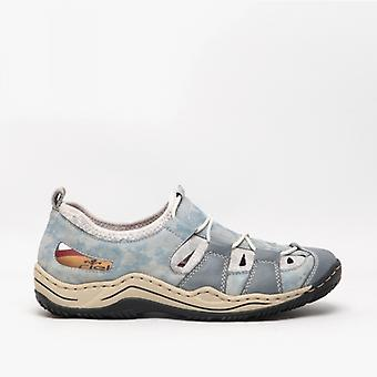 Rieker L0561-12 Ladies Casual Shoes Heaven/silverflower