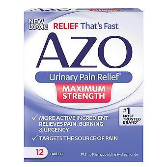 偶氮尿痛缓解, 最大强度, 12 ea