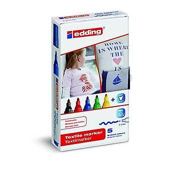 edding-4500. marcador textil básico 5PC 2-3 mm / 4-4500-5