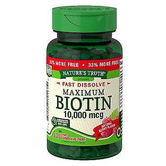 Nature's truth ultra biotin, 10000 mcg, tablets, natural berry, 120 ea
